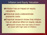 inflation and equity valuation