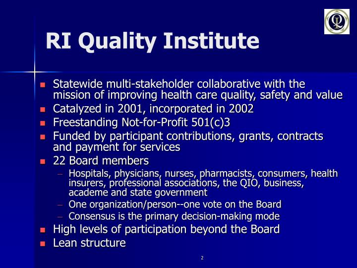 Ri quality institute