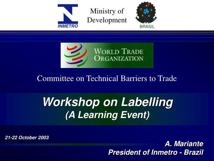 Committee on Technical Barriers to Trade