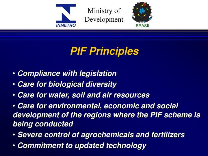 PIF Principles