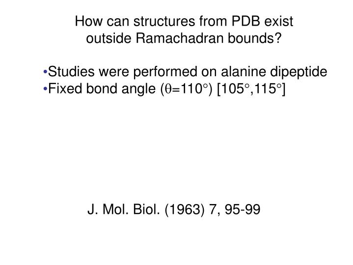 How can structures from PDB exist