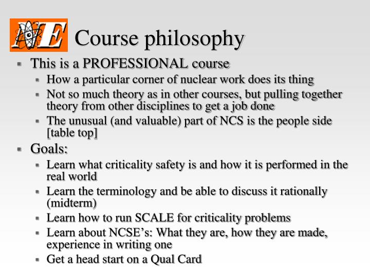 Course philosophy