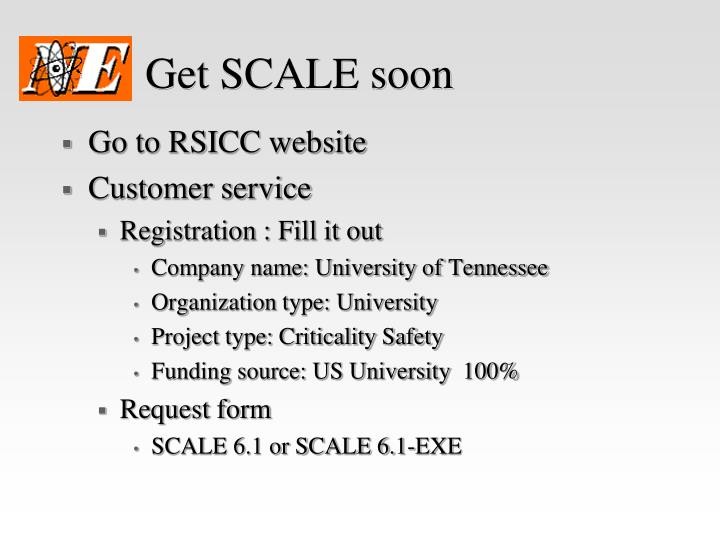 Get SCALE