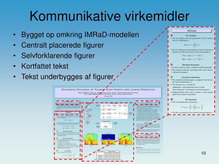 Bygget op omkring IMRaD-modellen