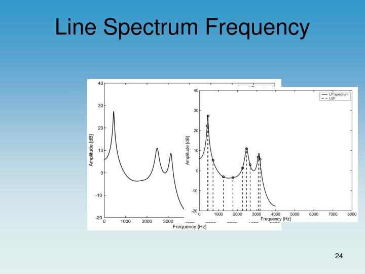 Line Spectrum Frequency