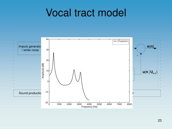 Vocal tract model