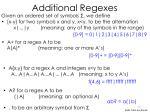 additional regexes