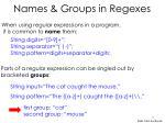 names groups in regexes