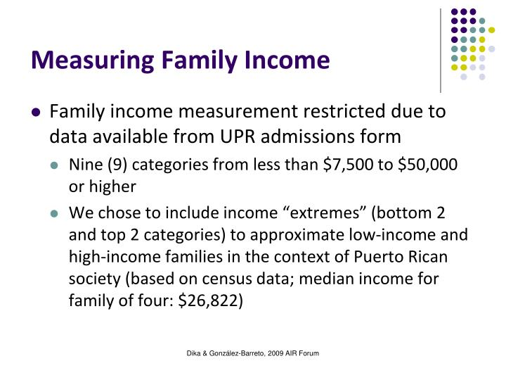 Measuring Family Income