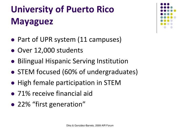 University of Puerto Rico Mayaguez