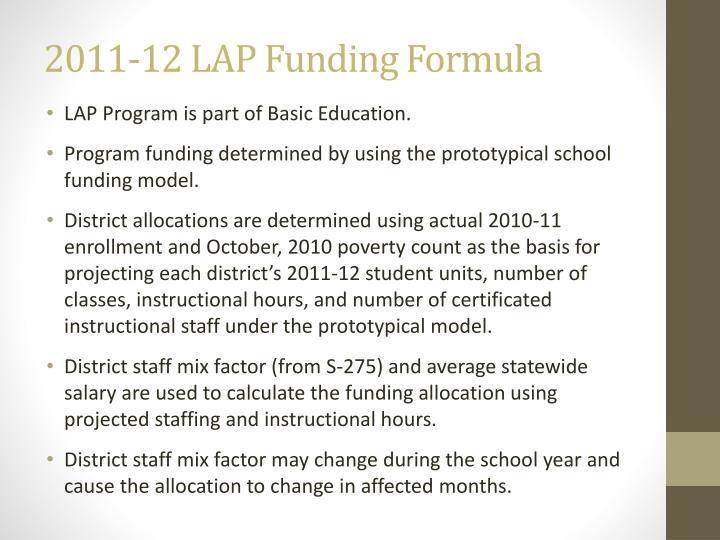 2011-12 LAP Funding Formula