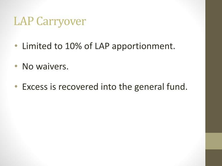 LAP Carryover