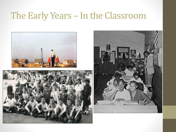 The Early Years – In the Classroom