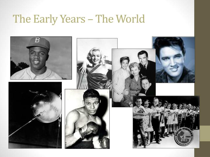 The Early Years – The World