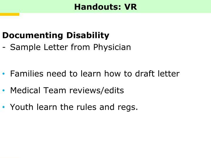 Handouts: VR