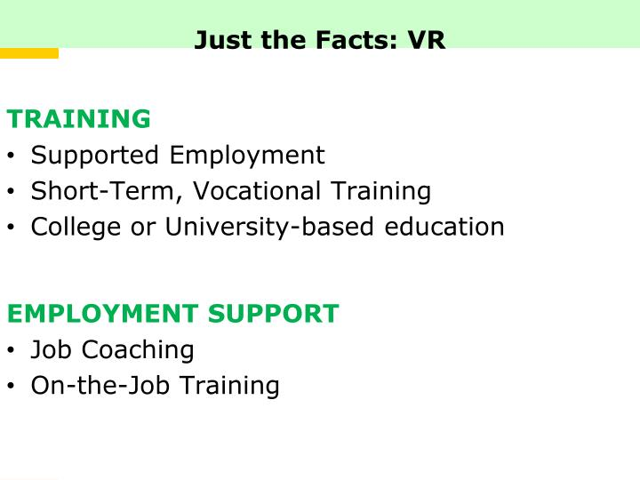 Just the Facts: VR