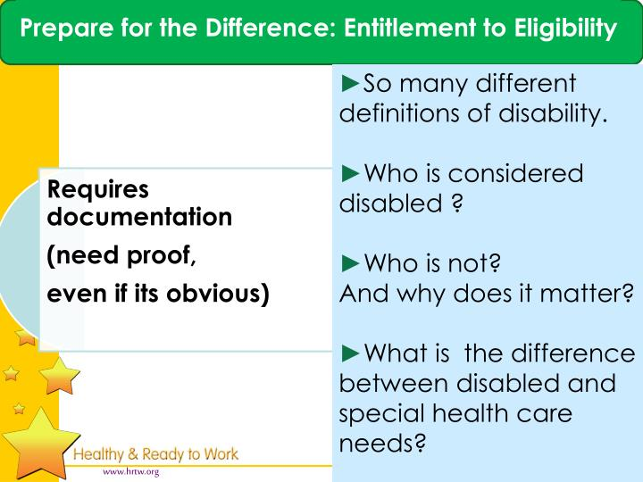 Prepare for the Difference: Entitlement to Eligibility