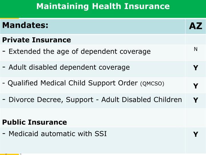 Maintaining Health Insurance
