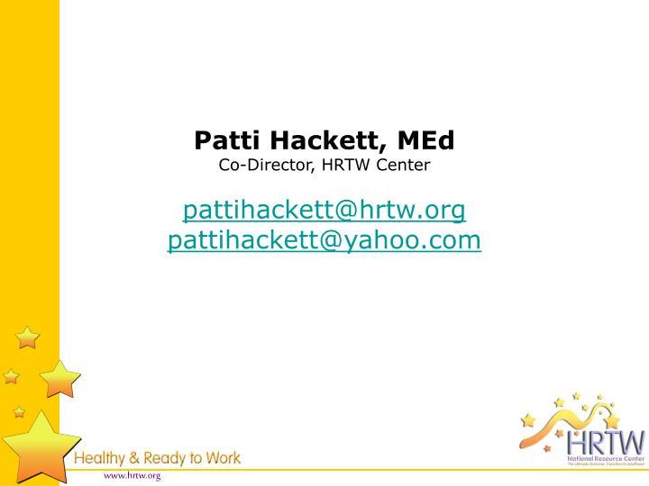 Patti Hackett, MEd
