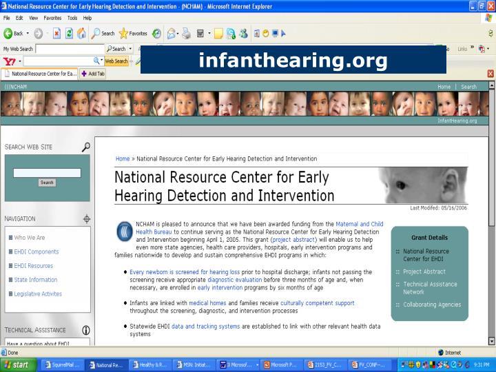infanthearing.org