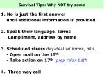 survival tips why not try some