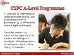 csfc a level programmes