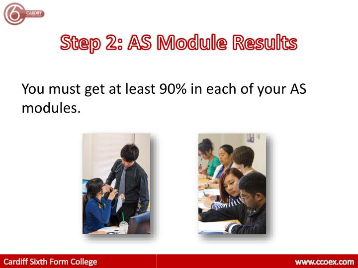 Step 2: AS Module Results
