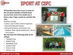 sport at csfc