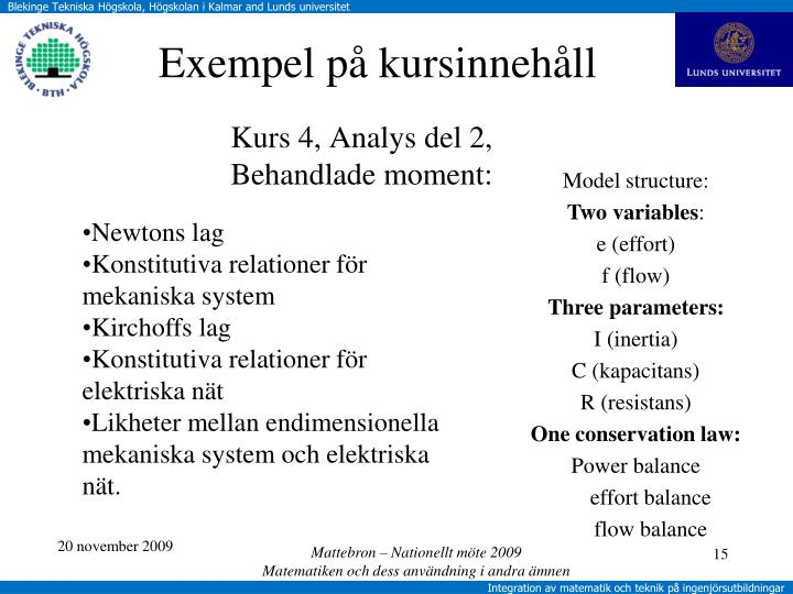 Kurs 4, Analys del 2,