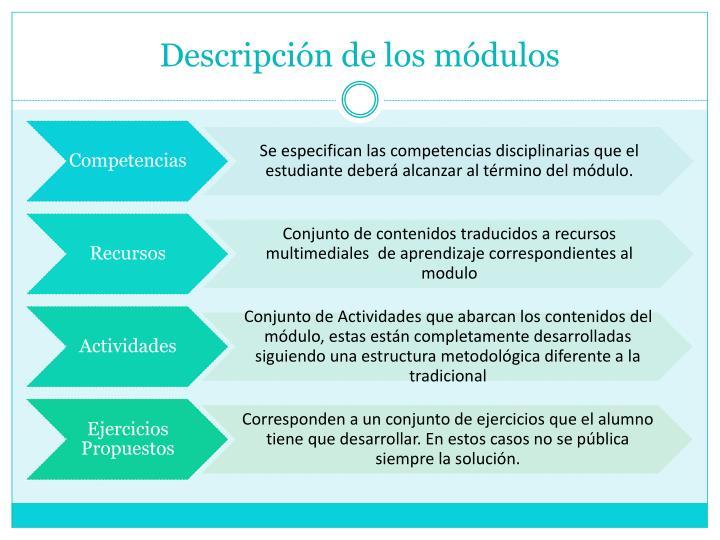 Descripción de los módulos