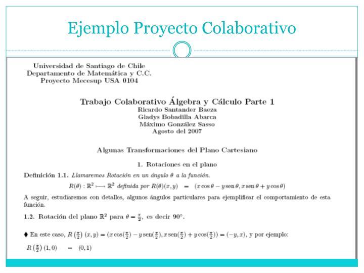 Ejemplo Proyecto Colaborativo