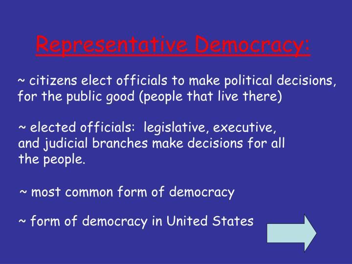 Representative Democracy: