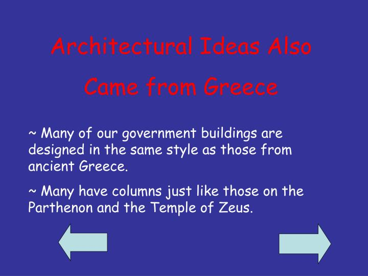 Architectural Ideas Also