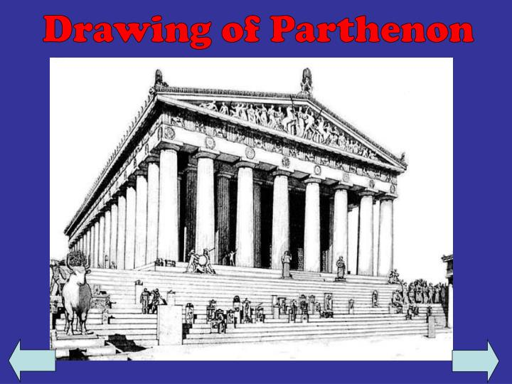Drawing of Parthenon
