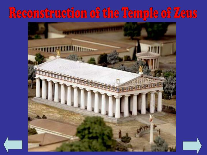 Reconstruction of the Temple of Zeus