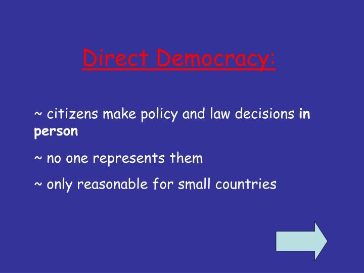 Direct Democracy: