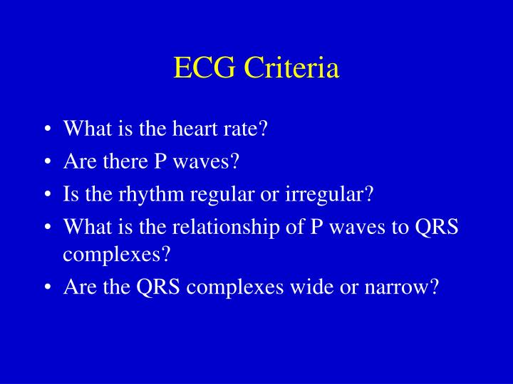 ECG Criteria