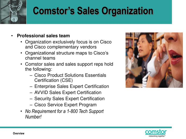 Comstor's Sales Organization