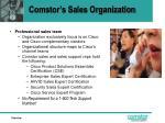 comstor s sales organization