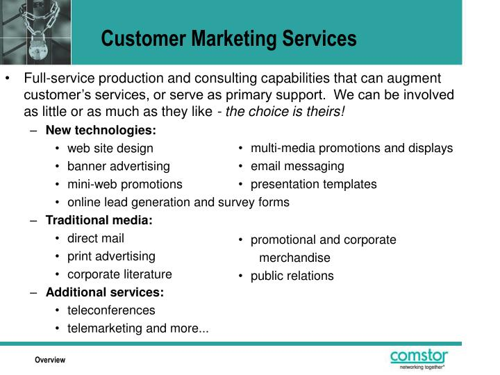 Customer Marketing Services