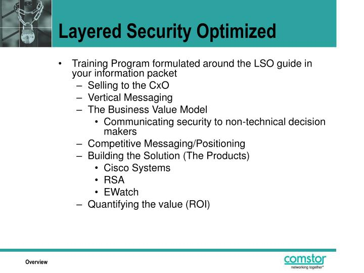 Layered Security Optimized