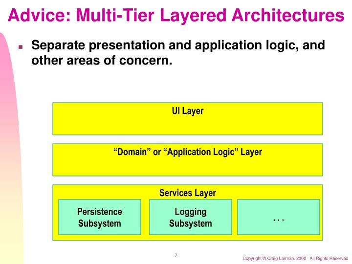 Advice: Multi-Tier Layered Architectures