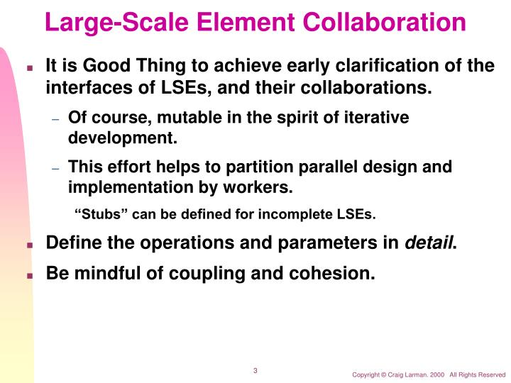 Large scale element collaboration