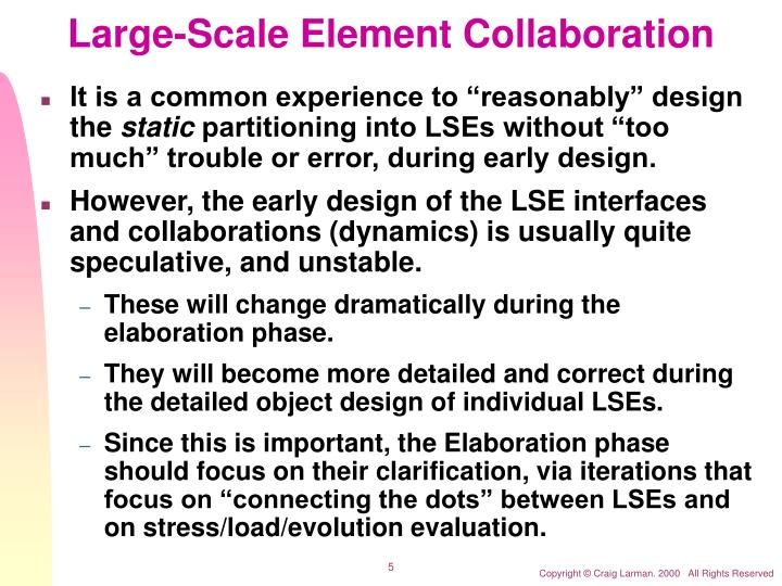 Large-Scale Element Collaboration