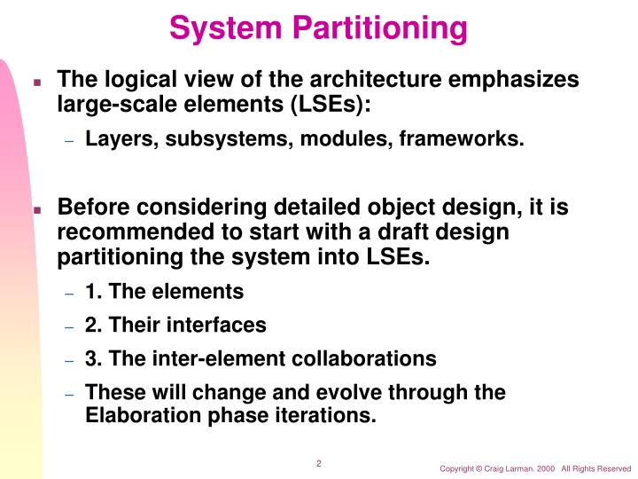 System partitioning