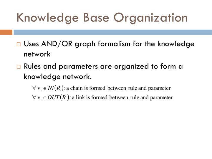 Knowledge Base Organization
