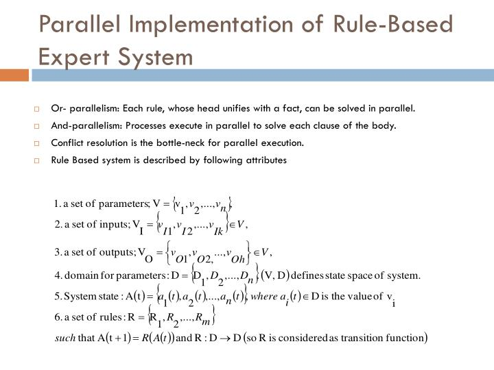 Parallel Implementation of Rule-Based Expert System