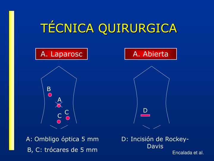 TÉCNICA QUIRURGICA