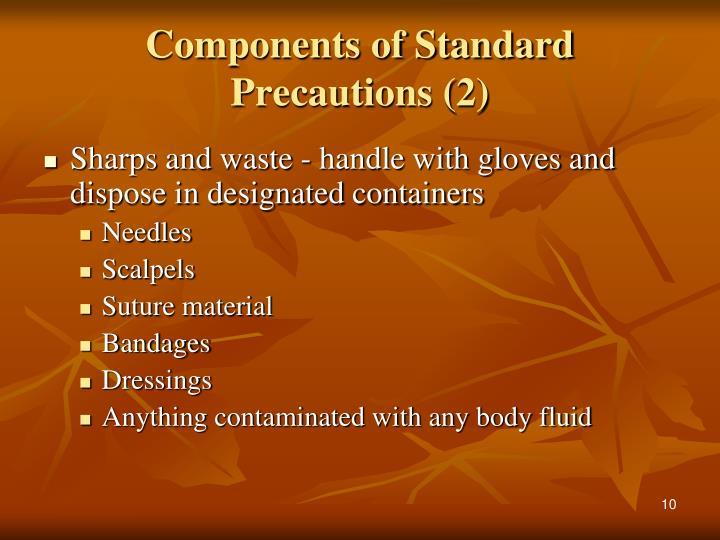 Components of Standard Precautions (2)