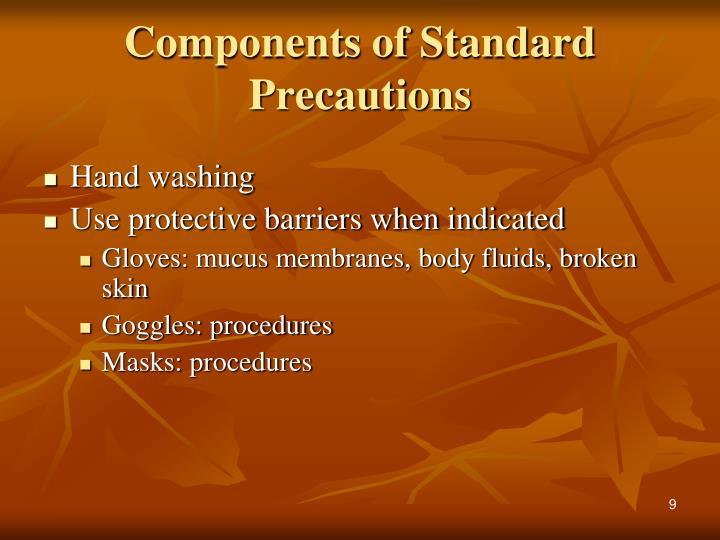 Components of Standard Precautions